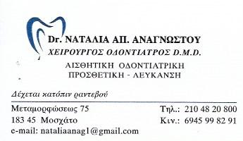 ΟΔΟΝΤΙΑΤΡΟΣ ΧΕΙΡΟΥΡΓΟΣ ΟΔΟΝΤΙΑΤΡΕΙΟ ΜΟΣΧΑΤΟ ΑΤΤΙΚΗ ΑΝΑΓΝΩΣΤΟΥ ΝΑΤΑΛΙΑ