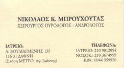 ΧΕΙΡΟΥΡΓΟΣ ΑΝΔΡΟΛΟΓΟΣ ΟΥΡΟΛΟΓΟΣ ΔΑΦΝΗ ΝΙΚΟΛΑΟΣ ΜΠΡΟΥΧΟΥΤΑΣ